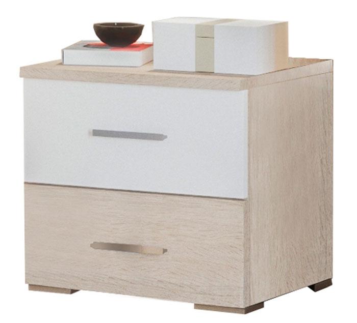 Фото Тумба Лілея Нова Світ меблів • 45,4х42,7х40,4 • Дуб сонома + Білий Розпродажна позиція - SOFINO.UA