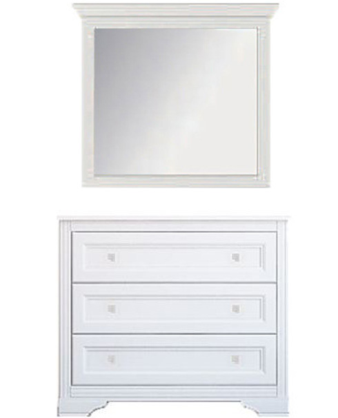 Комод с зеркалом 3s «Клео» Белый
