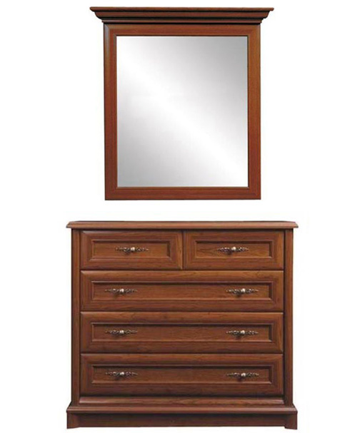 Комод с зеркалом 102 5s/10 «Соната» | Каштан