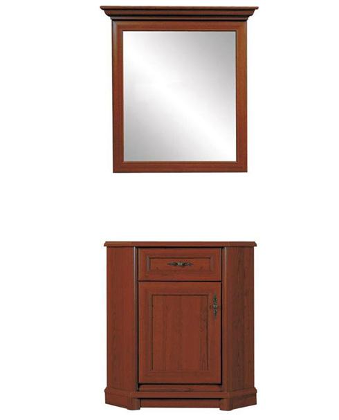 Комод с зеркалом 102 угловой 1dsn «Соната» | Каштан