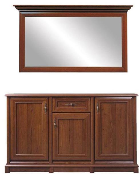 Комод с зеркалом 155 3d/1s «Соната» | Каштан