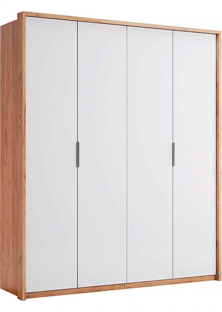 Фото Шафа Міромарк «Асті 4д» 213,2x184,4x58,5 Дуб Крафт + Білий Розпродажна позиція - SOFINO.UA
