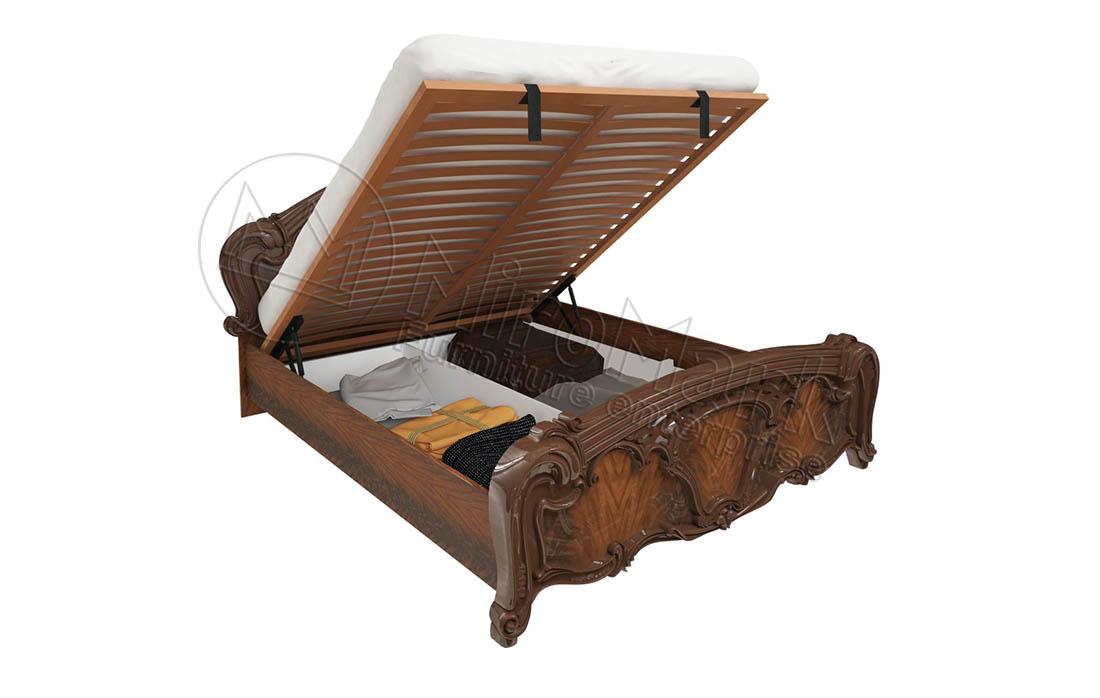 Кровать «Олимпия» с подъемным механизмом 1,6 | Перо орех