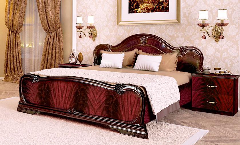 Кровать «Футура» без каркаса 1,6 | Перо рубино