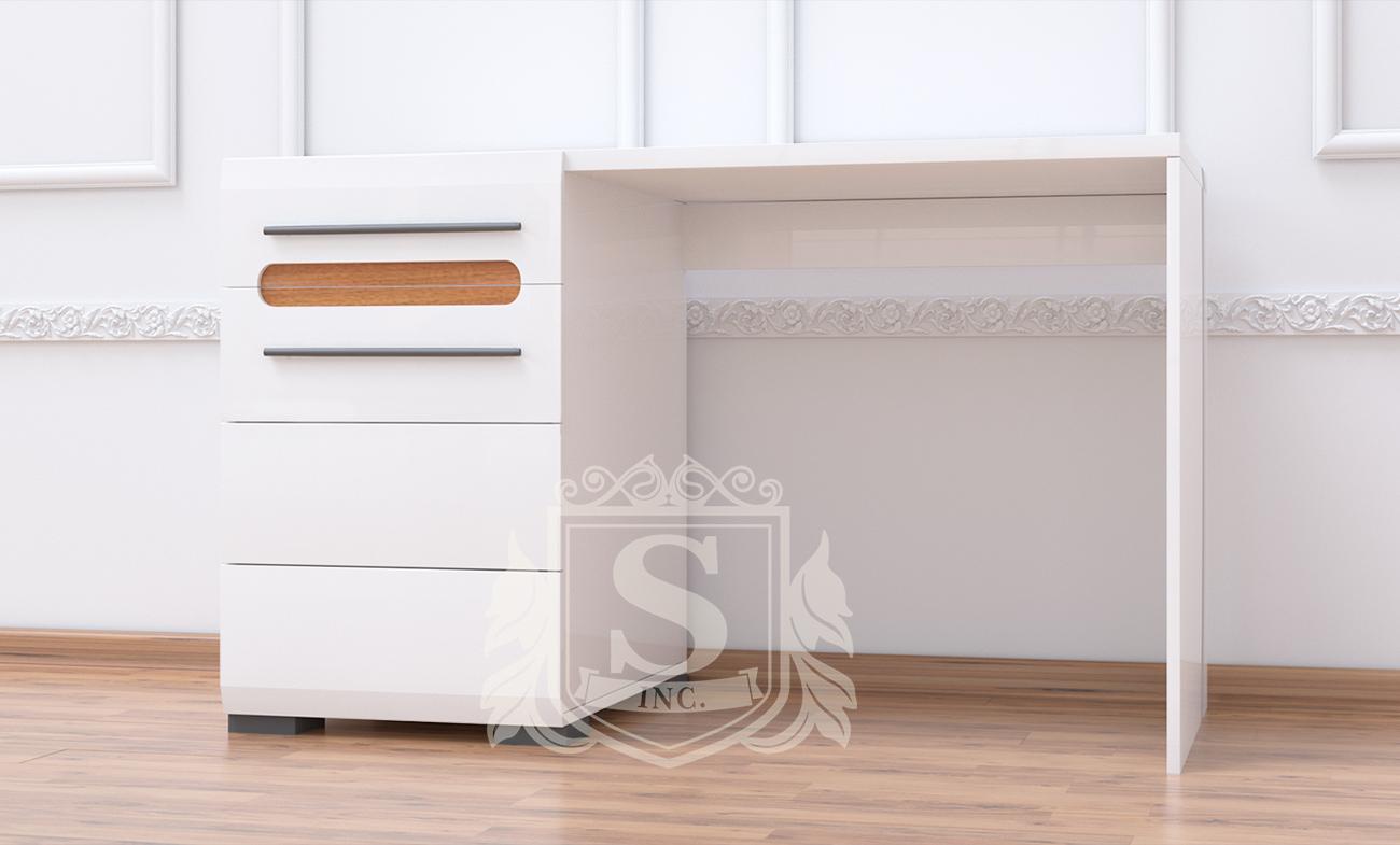 Стол «Бьянко» Белый глянец | Дуб сонома