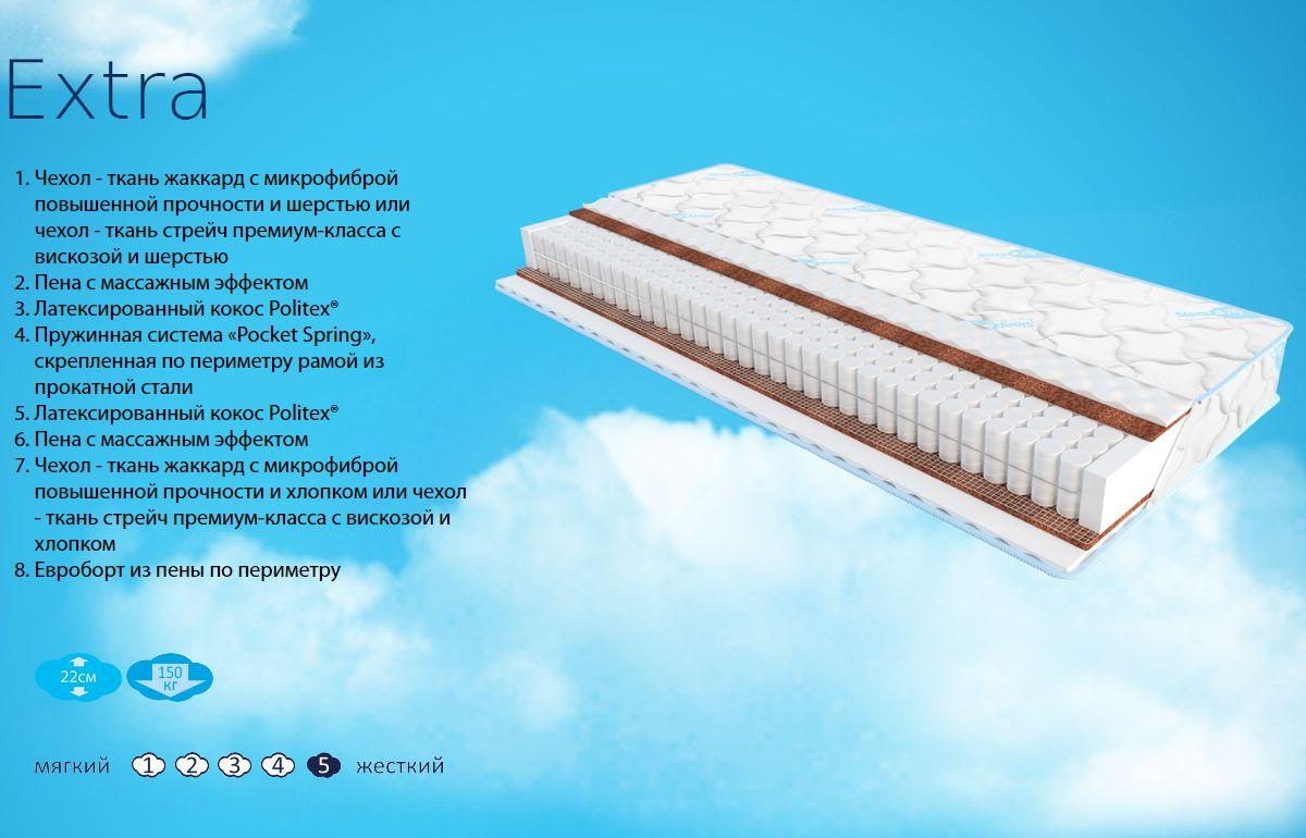 Фото 1 Матрас «Extra» жаккард | 150*200 Sleep&Fly - sofino.ua
