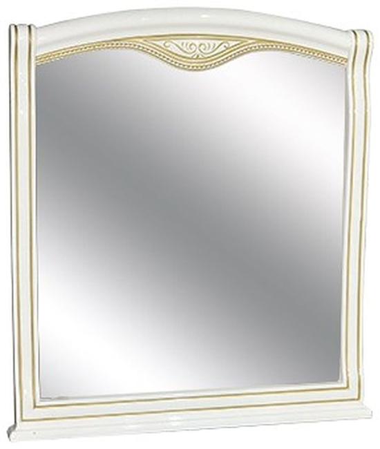 Фото Дзеркало 2 варіант Поліна Нова Світ меблів • 80х96х6 • Білий + Художній друк Розпродажна позиція - SOFINO.UA