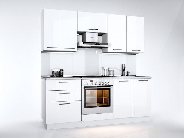 Фото Кухня пряма Міромарк Б'янка (ДСП Глянець Білий) 200 см Розпродажна позиція - SOFINO.UA