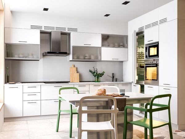 Фото Кухня кутова Міромарк Б'янка (ДСП Глянець Білий) 180х320 см Розпродажна позиція - SOFINO.UA