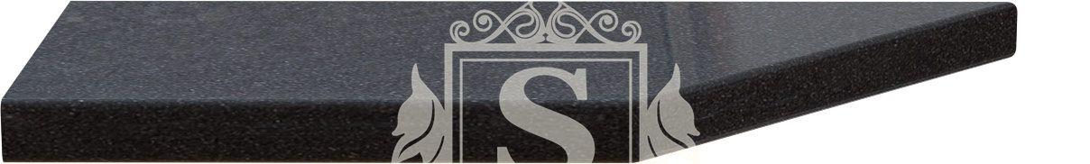 Столешница угловая «Керамика черная» 180 см (38 мм) L | Левая