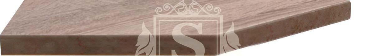 Столешница угловая «Дуб сонома» 180 см (38 мм) L | Левая