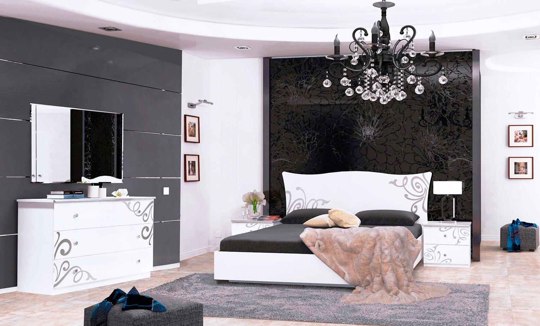 Спальня «Богема Лайт» | Глянец белый