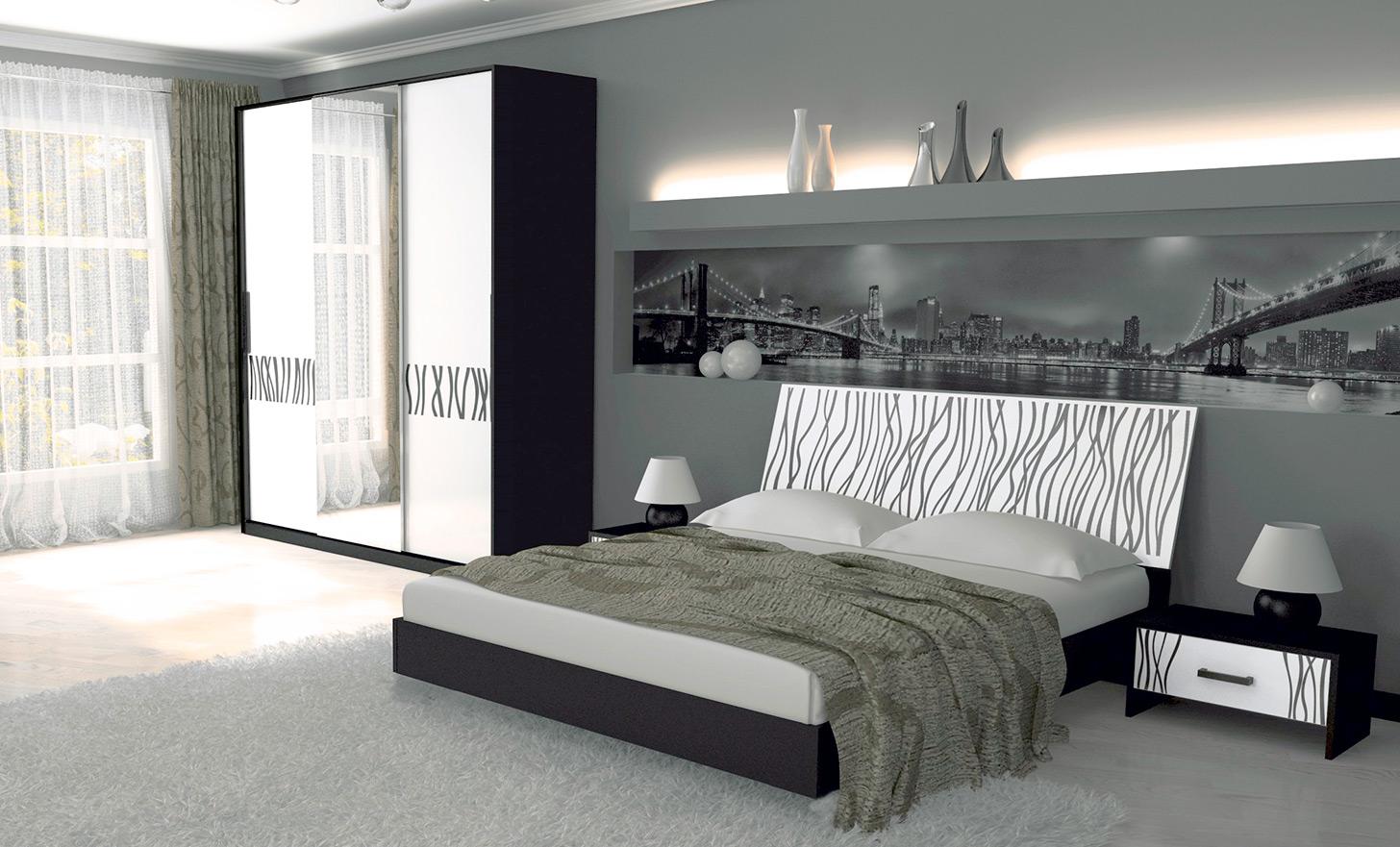 Спальня «Терра Хард»   Черный мат