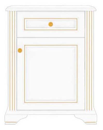 Комод 1D1S «Вайт» | Сосна золотая