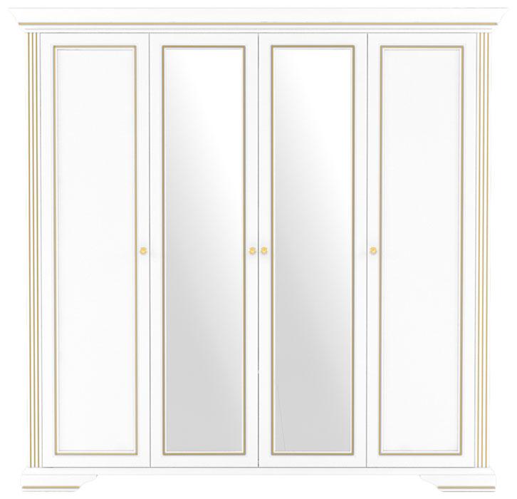 Шкаф 4D(2S) «Вайт» | Сосна золотая