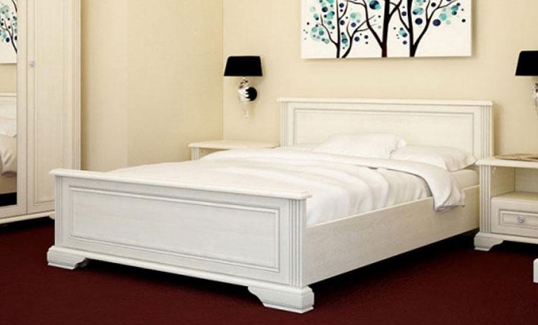 Кровать белая 90 «Вайт» | Сосна серебренная