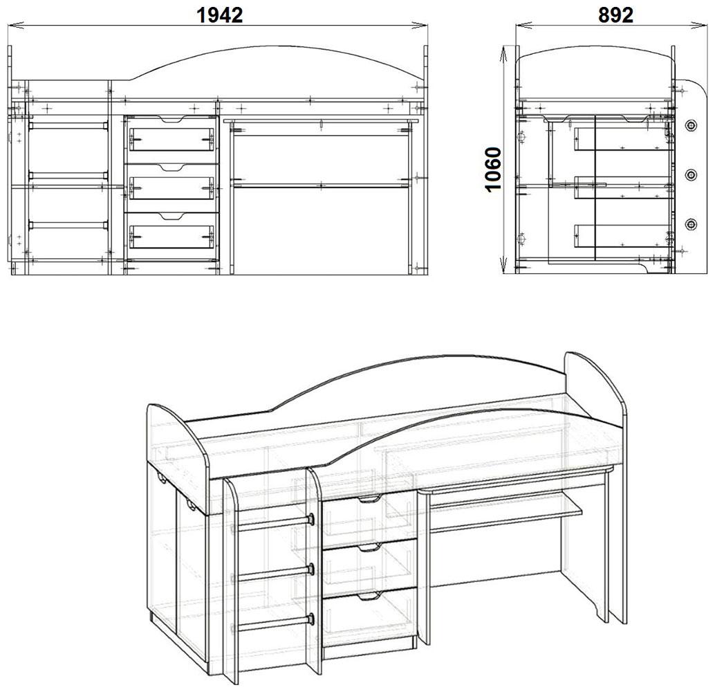 Фото 2 Кровать «Универсал» | Код товара: 599087 - SOFINO.UA