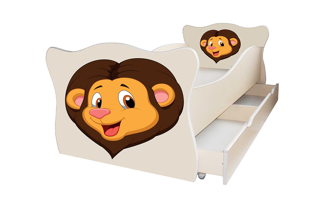 Фото Кровать детская «Animal 2» 70*140 | Код товара: 610476 - SOFINO.UA