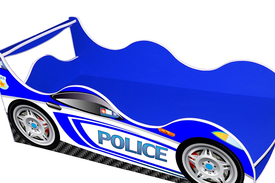 Кровать детская «Драйв Д-0004 | Police синий» 70*140