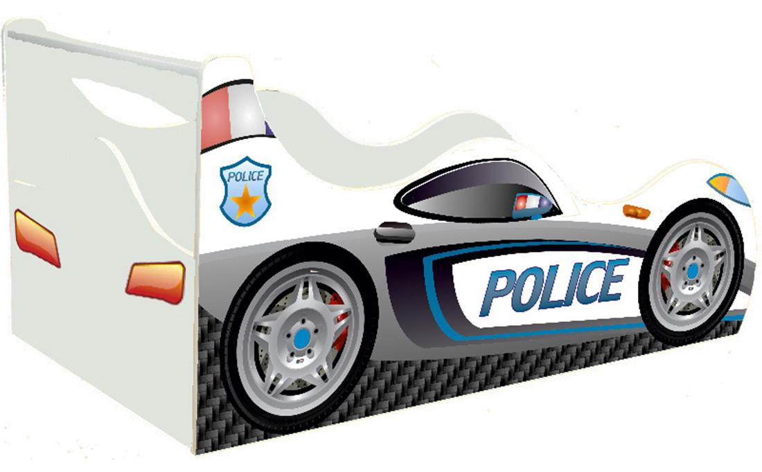 Кровать детская «Драйв Д-0004 | Police белый» 70*140