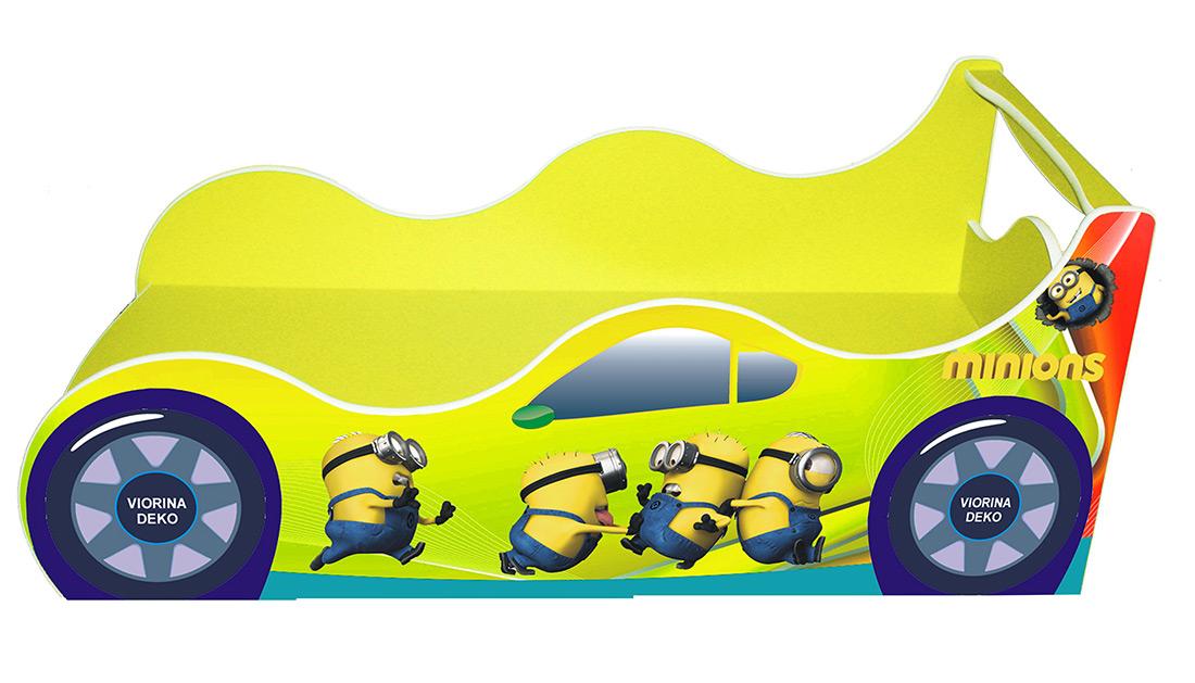 Кровать детская «Драйв Д-0009 | Миньон желтый» 70*140
