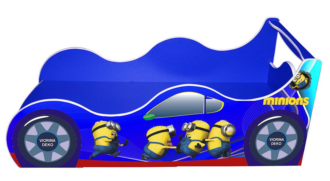 Кровать детская «Драйв Д-0010 | Миньон синий» 70*140