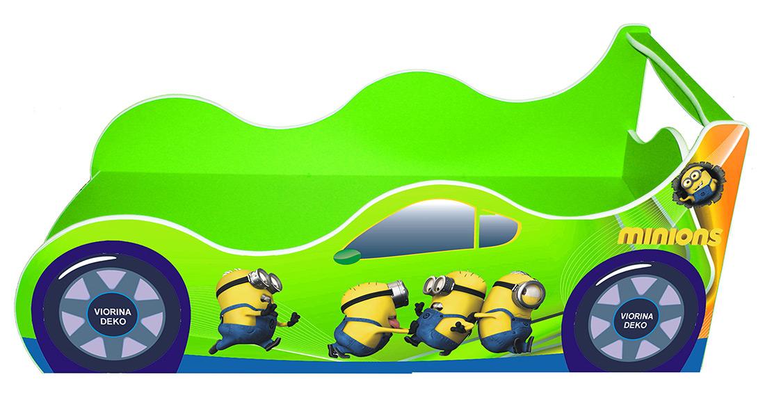 Кровать детская «Драйв Д-0011 | Миньон лайм» 70*140