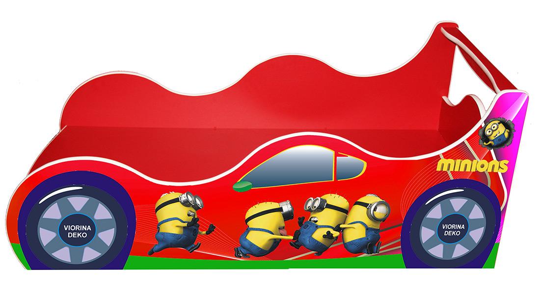 Кровать детская «Драйв Д-0012 | Миньон красный» 70*140