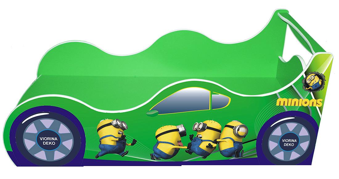 Кровать детская «Драйв Д-0013 | Миньон зеленый» 70*140