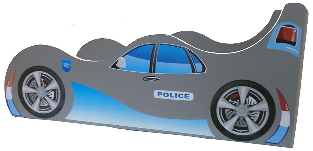 Кровать детская «Форсаж Ф-0005   Police» 70*140