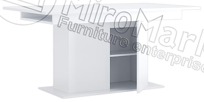 Стол «Столовый раздвижной трансформер с дверями» 90*150
