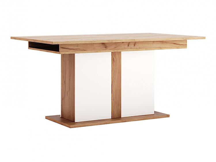 Фото Стіл столовий розсувний трансформер Міромарк «Асті» 73,5x150x90 Дуб Крафт + Білий Розпродажна позиція - SOFINO.UA