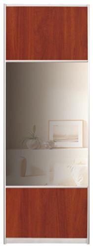 Фото Двері шафи-купе (4д 3700*1800) | комбінований фасад (дзеркало, ДСП) | 925*1800 - SOFINO.UA