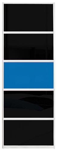 Фото Двері шафи-купе (2д 1600*1800)   комбінований фасад (кольорове скло та/або тоновані дзеркала)   800*1800 - SOFINO.UA