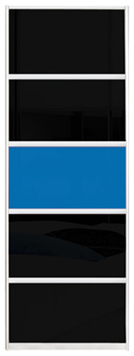 Фото Двері шафи-купе (3д 2200*1900) | комбінований фасад (кольорове скло та/або тоновані дзеркала) | 730*1900 - SOFINO.UA