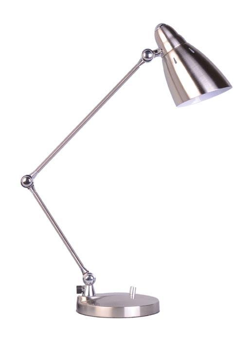 Фото Настольная лампа 98875 «МТ 7020» серебро-сатин GEO - sofino.ua