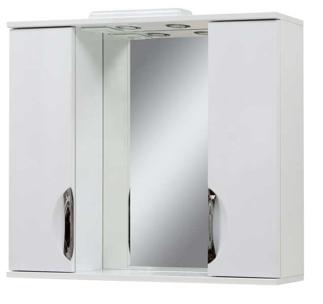 Фото Зеркало «Laura-100» c двумя шкафчиками Сансервис - sofino.ua