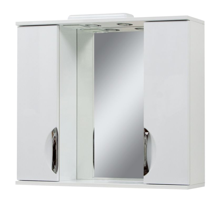 Фото Зеркало «Laura-85» c двумя шкафчиками Сансервис - sofino.ua