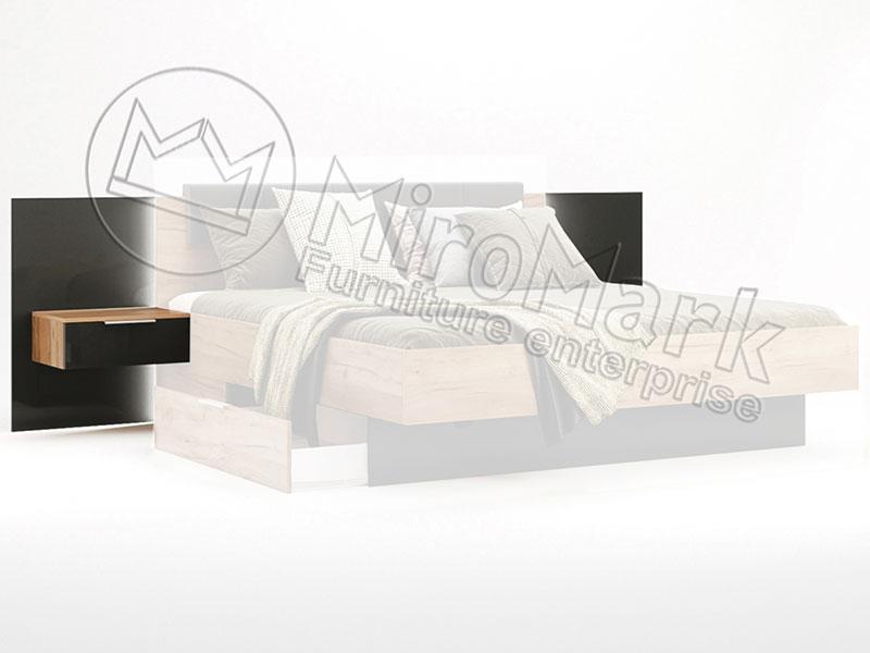 Фото Тумба приліжкова приставна Міромарк «Луна» 2 шт 90,5x50x39,5 Дуб крафт + Мат лава Розпродажна позиція - SOFINO.UA