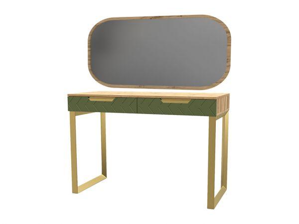 Фото Стіл з шухлядками та дзеркалом «Свон» Балі зелений - SOFINO.UA