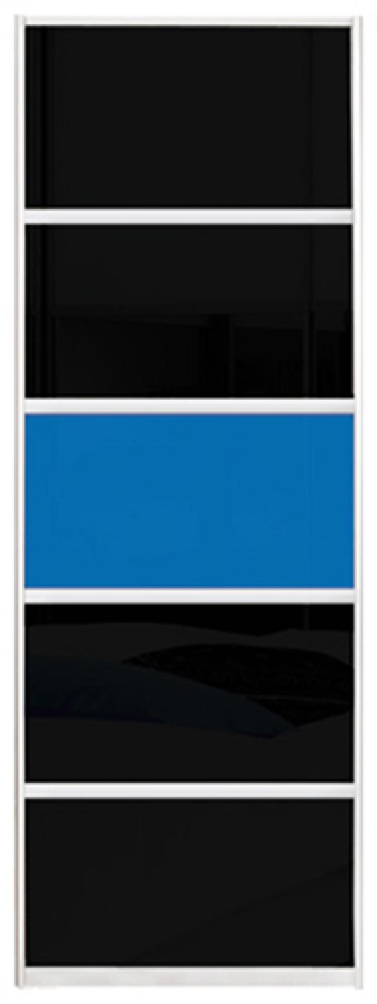 Фото Двері шафи-купе (3д 2300*2600) | комбінований фасад (кольорове скло та/або тоновані дзеркала) | 760*2600 - SOFINO.UA
