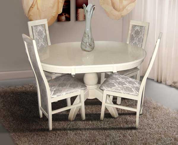 Фото Стол обеденный раскладной «Престиж» слоновая кость MX Furniture - sofino.ua