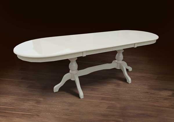 Фото Стол обеденный «Оскар Люкс» слоновая кость MX Furniture - sofino.ua