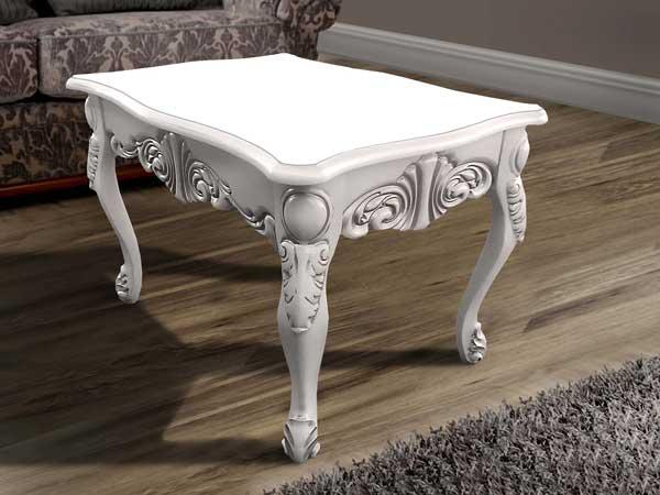 Фото Стол журнальный «Скарлет» слоновая кость MX Furniture - sofino.ua