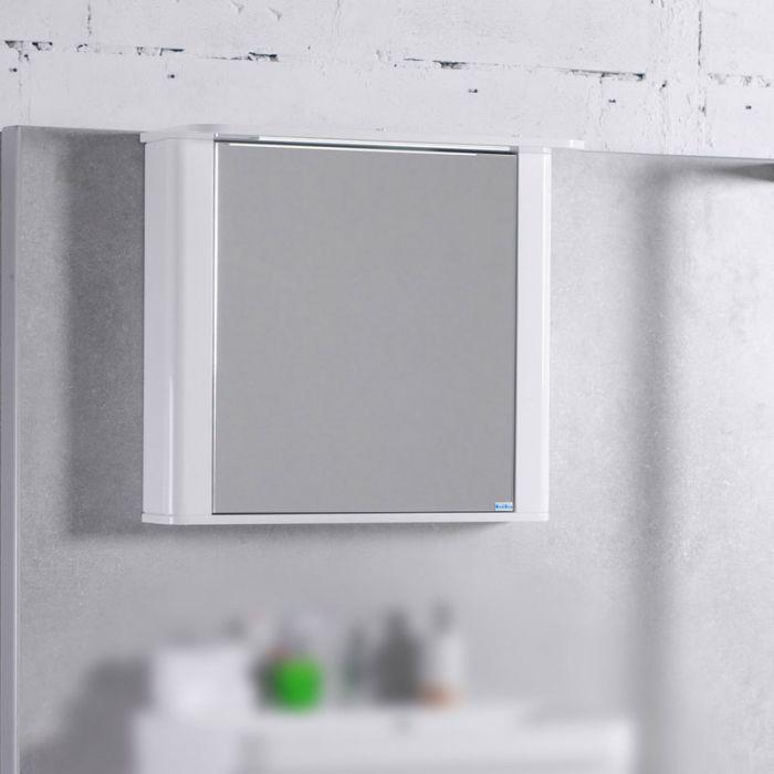 Фото Шкафчик зеркальный с подсветкой «МС Carla 800» Fancy Marble - sofino.ua