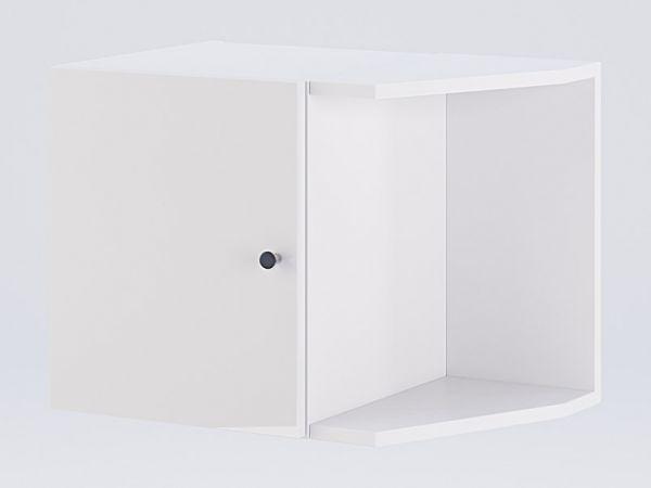 Фото Антресоль Міромарк «Фемелі Кутове закінчення» Глянець білий 39,8х53х36,6 Розпродажна позиція - SOFINO.UA
