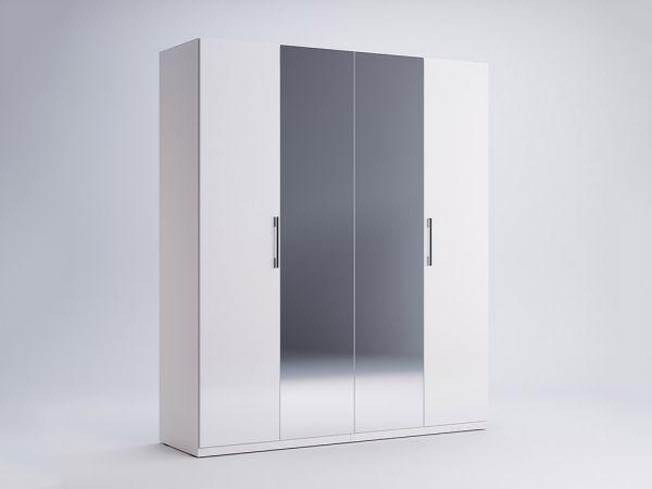 Фото Шафа Міромарк «Фемелі 4д» (Дзеркало) Глянець білий 210,4х178,8х54,6 Розпродажна позиція - SOFINO.UA