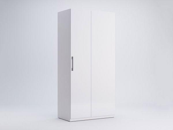 Фото Шафа Міромарк «Фемелі Кут 90°» Глянець білий 210,4х100х54,6 Розпродажна позиція - SOFINO.UA
