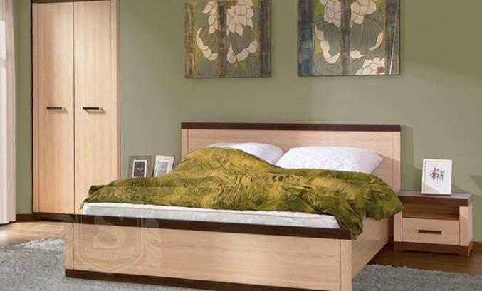 Кровать 160 «Кармен» Дуб родос | Венге магия