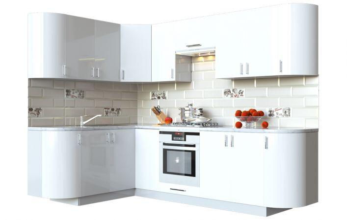 Фото Кухня кутова Мода ВІП мастер • МДФ • 260х150 см • Фасад Лайт + Корпус Сірий металік Розпродажна позиція - SOFINO.UA